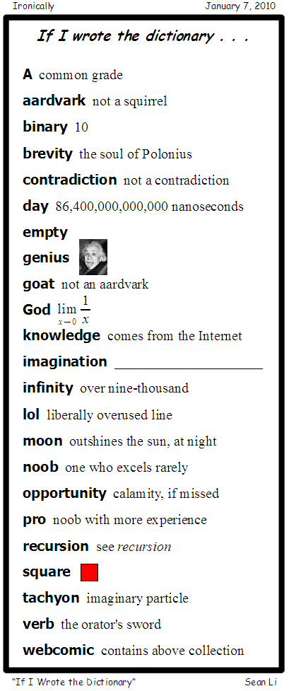 If I Wrote the Dictionary