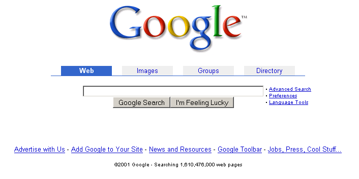 google-website-old